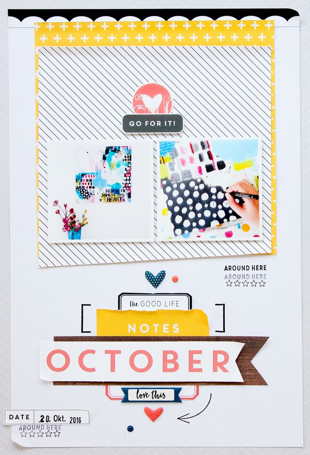 Clean & Simple Scrapbooking Layout | October Notes | Janna Werner ...