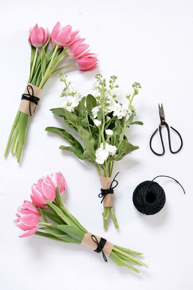 DIY | 4 ways to wrap a flower bouquet | burkatron | Bloglovin\'