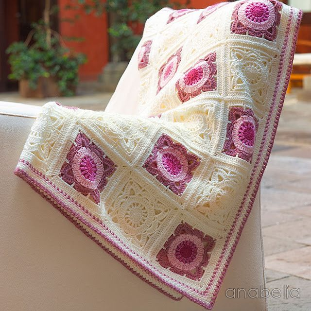 Willow crochet square baby blanket... and crochet lace news ...