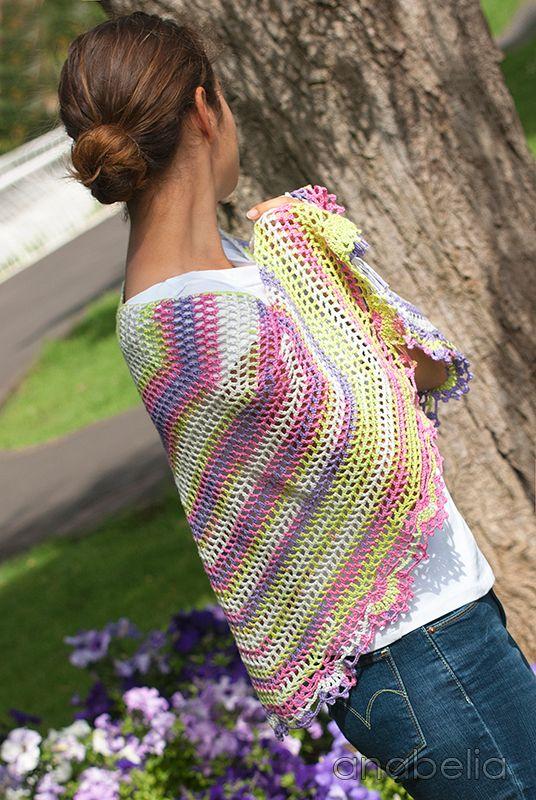 Light Summer Shawl, crochet pattern   Anabelia Craft Design blog ...