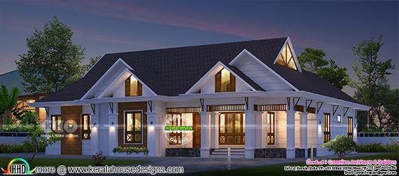 Superb Single Floor Sloped Roof Home With 4 Bedrooms Kerala Home Design Bloglovin