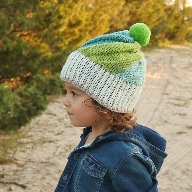 Super Easy Swirl Hat Free Knitting Pattern | Gina Michele