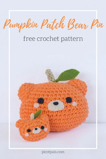 Free crochet pumpkin pattern, amigurumi pattern for Halloween ... | 640x427