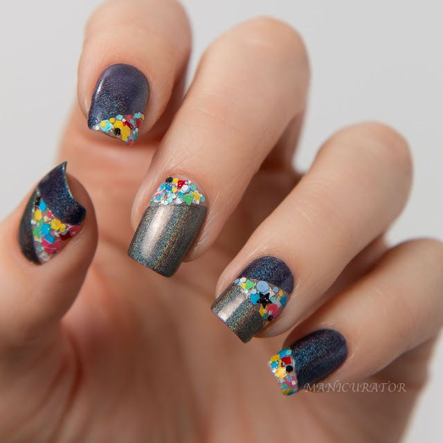 Kbshimmer winter color block nail art manicurator bloglovin kbshimmer coal in one a charcoal gray linear holographic polish with 2 coat coverage this soft black polish is a perfectly sophisticated twist on the prinsesfo Image collections