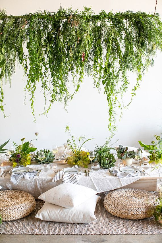Garden Inspired Dinner Party With Parachute Home