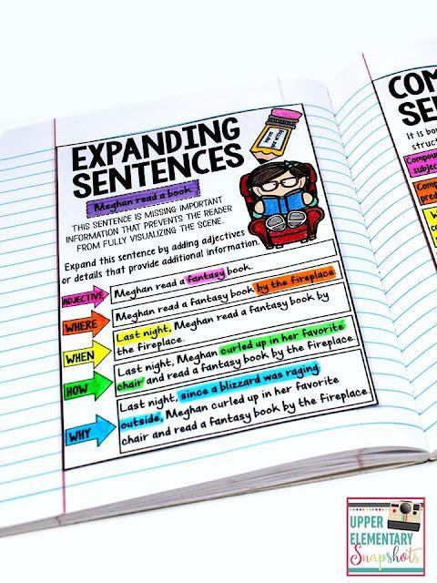 Writing Lesson: Expanding Sentences   Upper Elementary