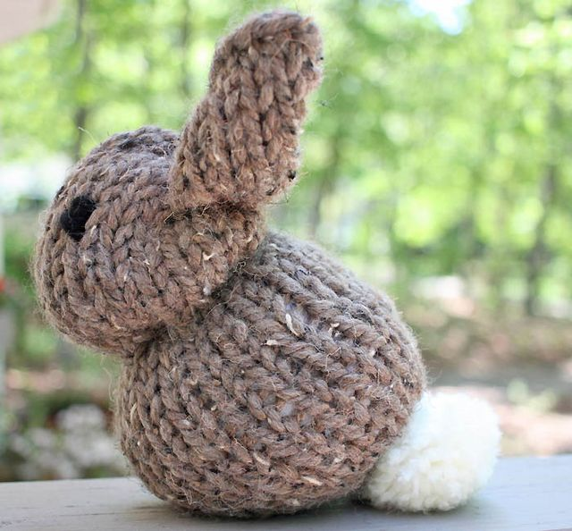 One Square Stuffed Bunny [knitting pattern] Gina Michele Bloglovin