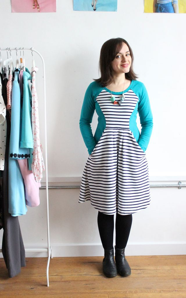 My Teal and Stripes Zadie Dress | Tilly and the Buttons | Bloglovin\'