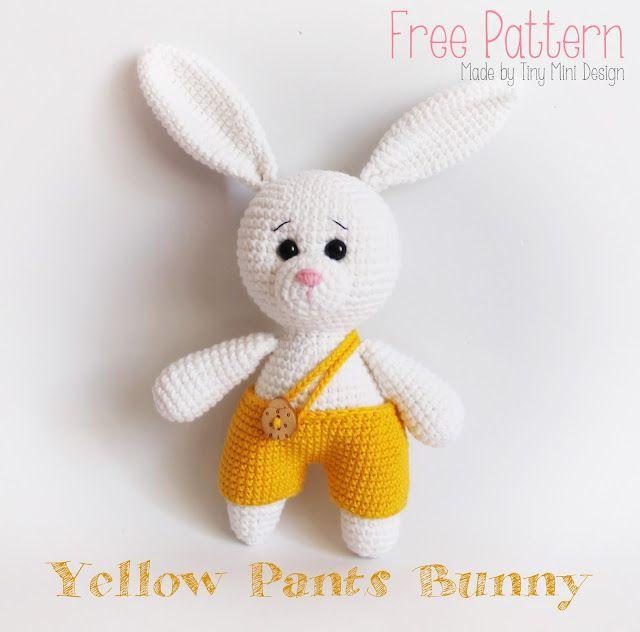 Bloglovin Amigurumi : Amigurumi Yellow Pants Bunny-Free Pattern Amigurumi Free ...