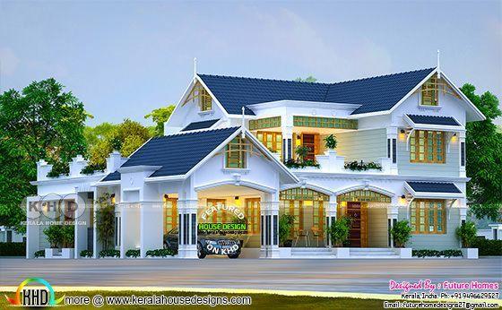 Beautiful 4 Bedroom Mix Roof Kerala Home Design Kerala Home Design Bloglovin