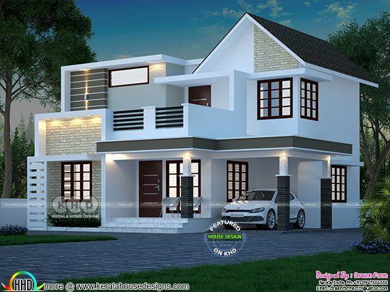 1787 Square Feet 4 Bedroom Cute Double Floor House Kerala Home