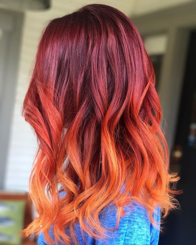 How To Do Red Ombre Hair Hairstyles Hair Color For Long Medium