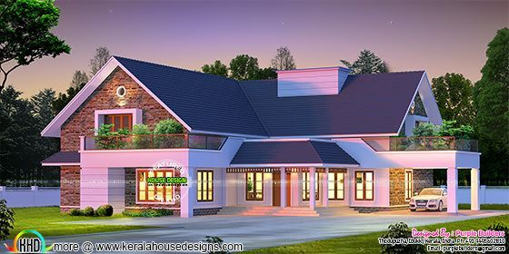 Proposed House At Pala Kerala 4 Bedroom Attached Single Floor 3000 Square Feet