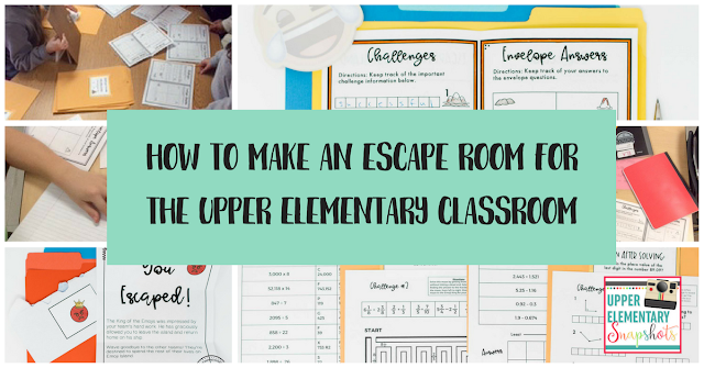 How to Make an Escape Room for the Upper Elementary Classroom