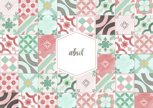 calendario abril: imprimible y fondo | Milowcostblog | Bloglovin\'