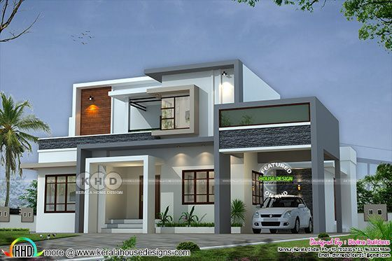 Modern House Models In Kerala: 2516 Square Feet House Cost Estimated Cost ₹47 Lakhs