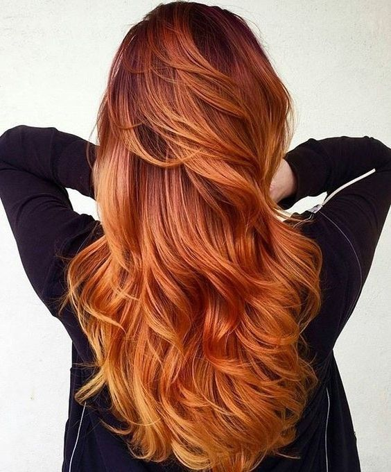 Red Highlights On Black Brown Blonde Hair Hairstyles Hair