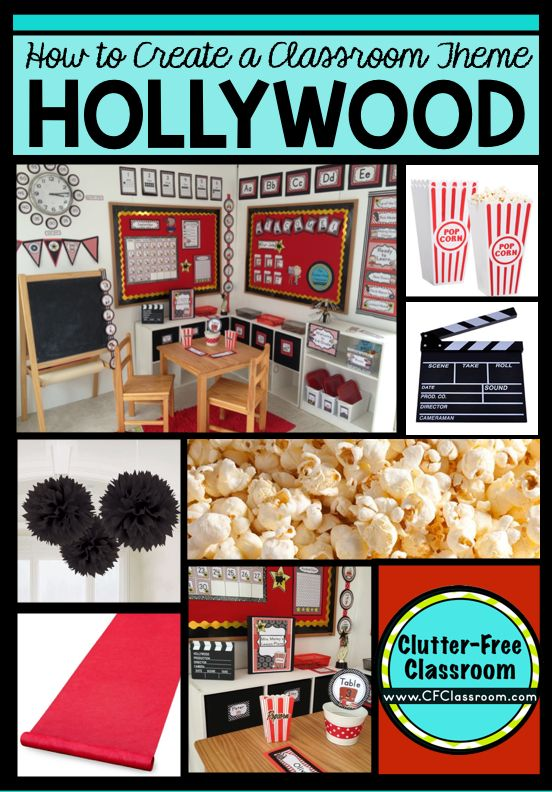 Classroom Theme Ideas Cafe ~ Hollywood themed classroom ideas printable