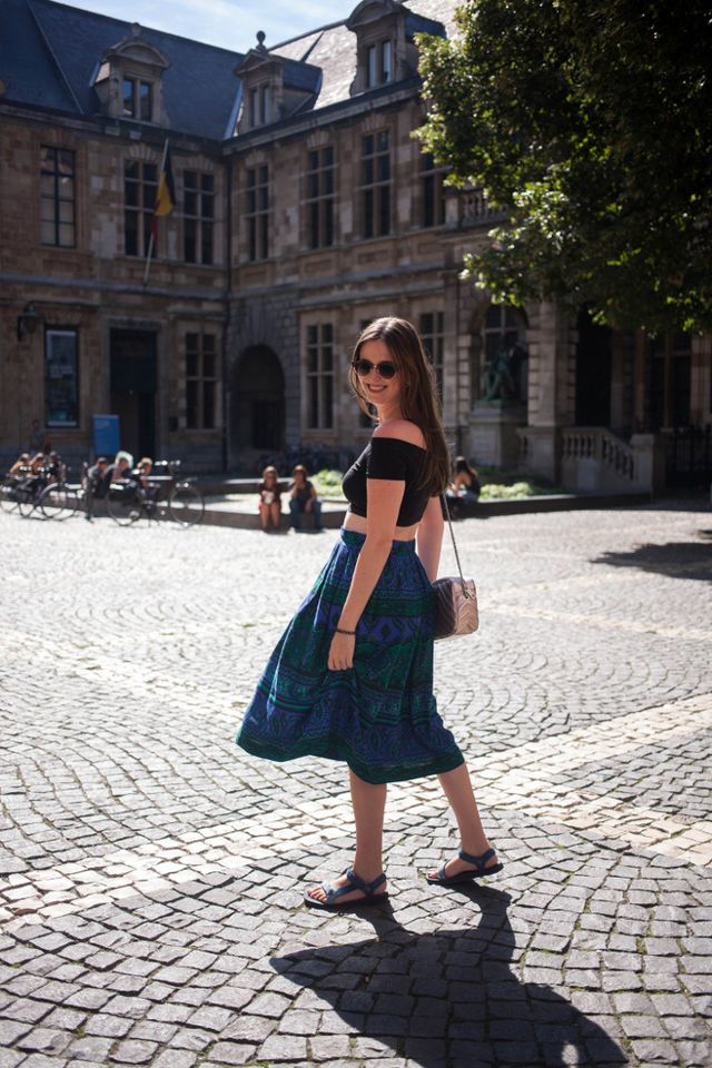 5a9d3172ff Outfit: crop top, midi skirt | The Styling Dutchman | Bloglovin'