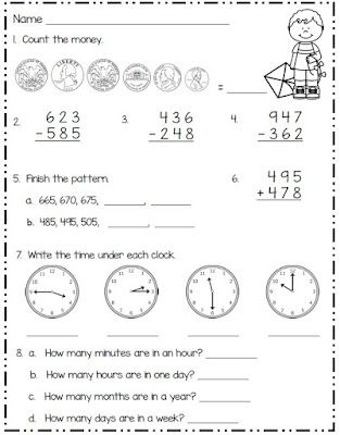 Spring Math for Second Grade | Smiling and Shining in Second Grade ...