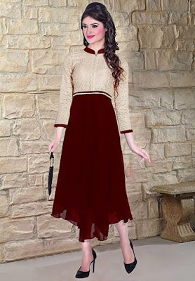 10922e1a11 Anarkali style kurtis are matchless with any other type due to their fuller  ethnic & feminine appeal. And what can be better when this beautiful kurti  style ...