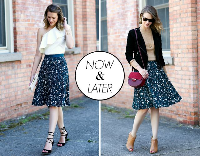 I decided to revive an old series today that so many of you mentioned that  you loved. Today I m showing you two ways to wear this floral pleated skirt  for ... 56bd921cacfa7