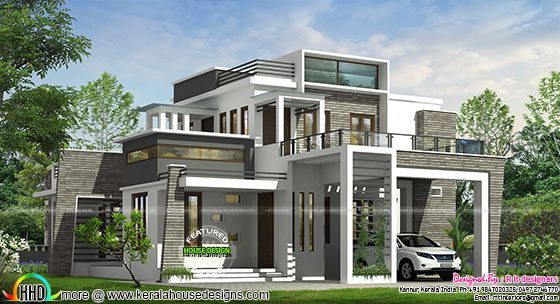 4 bhk modern box type house kerala home design bloglovin for House design pic