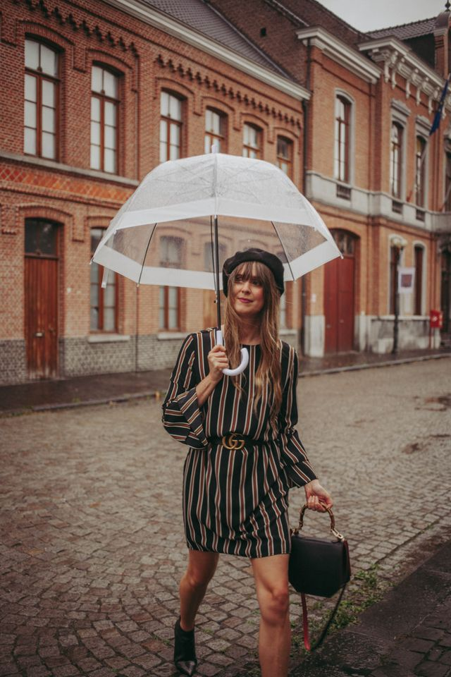 08deb170 Outfit: stripes and beret in the rain | The Styling Dutchman ...