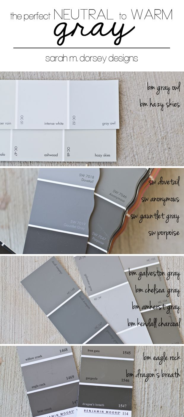 For A Lighter Gray Bm Owl Neutral Or Hazy Skies Warm These Are Great Wall Colors Also Try Them Lightened 50 Look