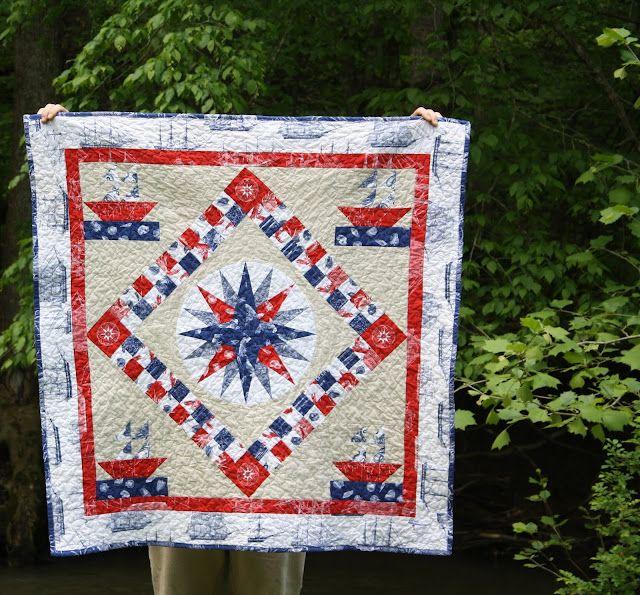 "Embroidered Quilt Block Panel /""Sew Happy/"" Pure Irish Linen"