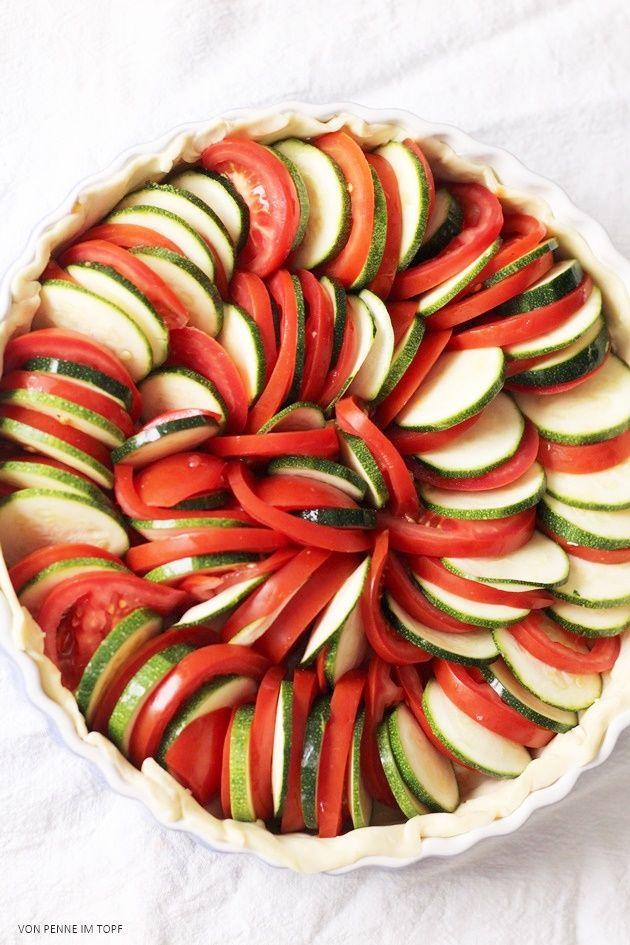 Zucchini-Tomaten-Tarte mit Ziegenfrischkäse | Penne im Topf | Bloglovin\'