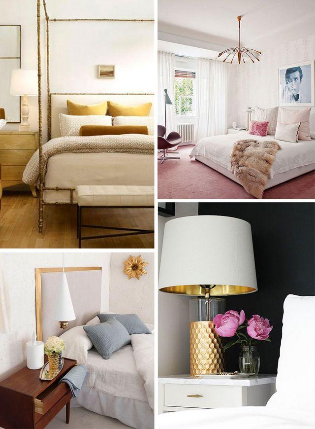 Deco dormitorios en blanco y dorado a trendy life for Dormitorios dorados