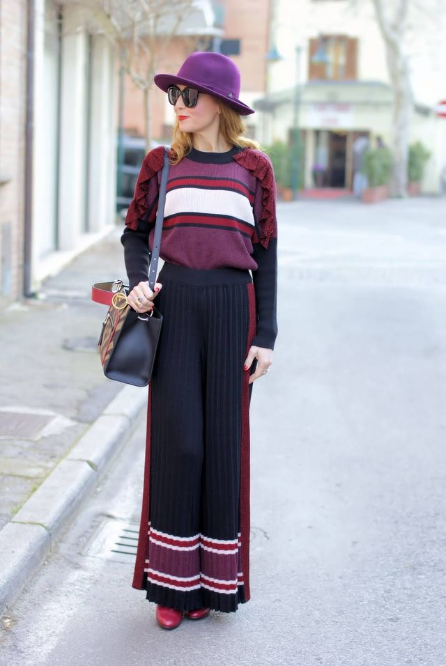 bf504fce1c Pleated palazzo pants suit: a 70s inspiration | Fashion and Cookies ...