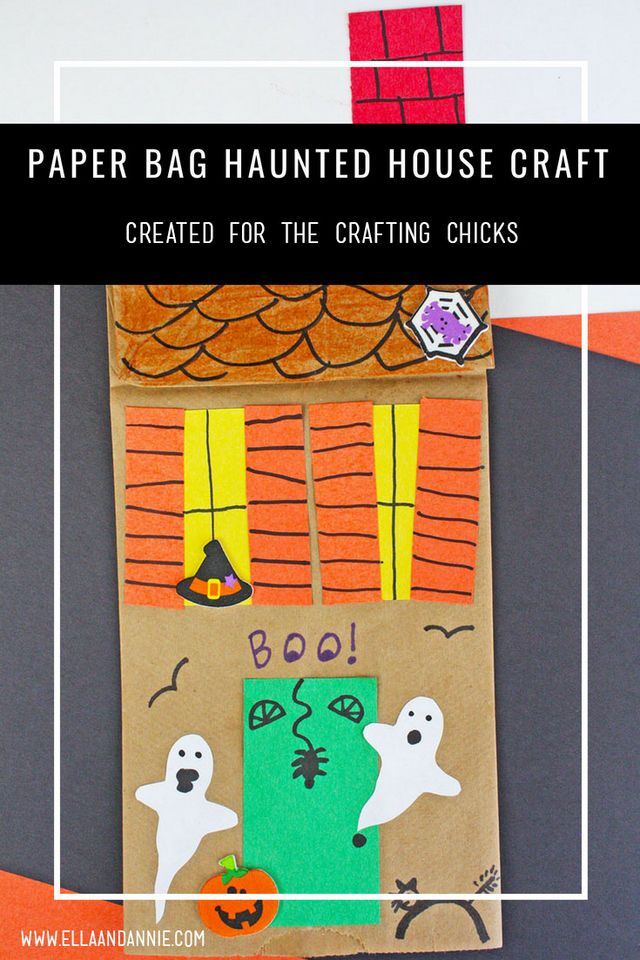 paper bag haunted house craft the crafting chicks bloglovin