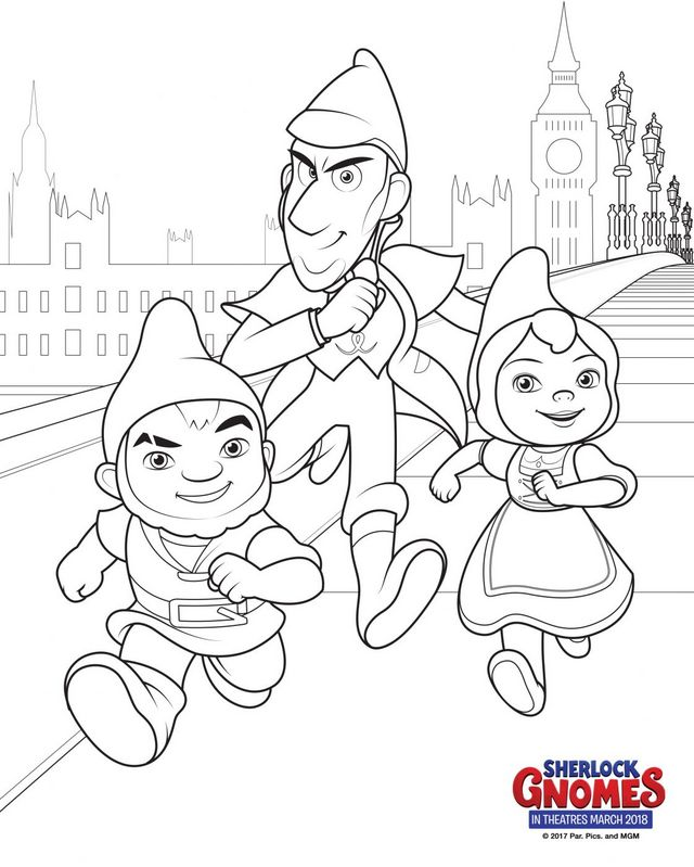 Sherlock Gnomes Coloring Pages Just Click On The Image To Download