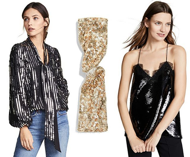 95d97d1f A few more fun ideas: This Rixo Sequin top is so good (I have it, see it  styled in this post!), this sequin headband will make even jeans and a tee  NYE ...