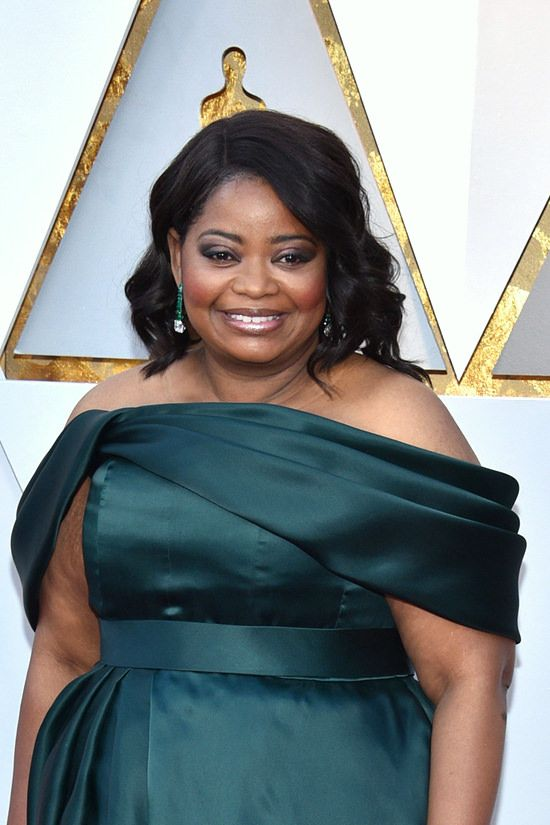 1716ef8c96d Oscars 2018  Octavia Spencer Shut Our Mouths in Brandon Maxwell ...