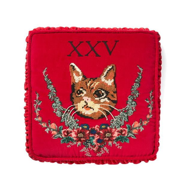 420d89313f3f Yea or Nay: Gucci Velvet Cushions with Cat and Dog Embroideries ...