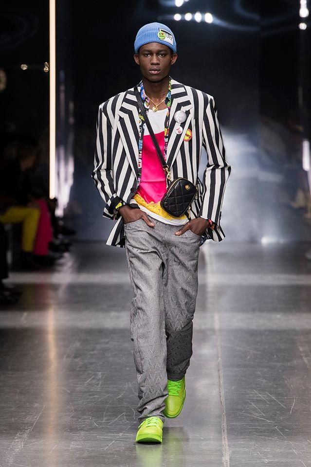 542ddb8c5c406 Milan Fashion Week  Versace Fall 2019 Menswear Collection