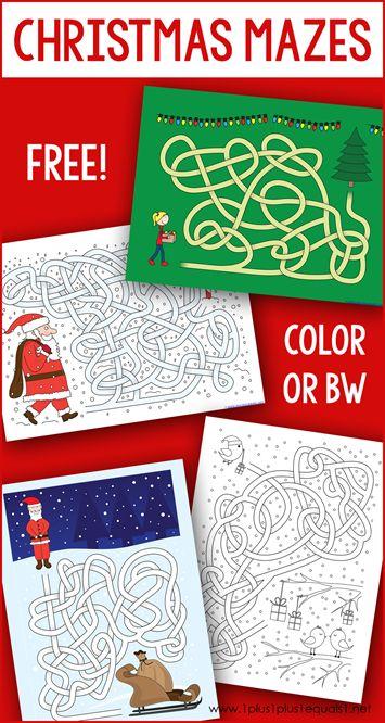 Christmas Mazes.Free Printable Christmas Mazes 1 1 1 1 Bloglovin