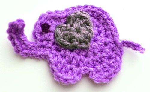 6c0a703a2 Free Crochet Pattern  Lovable Elephant Applique