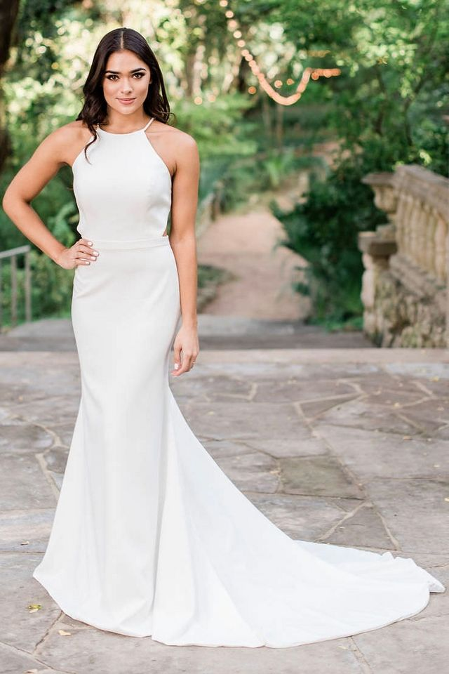12799455e58235 ... keyhole back that expose the perfect amount of skin or the sleek,  modern minimalist cut, the Finn is one of those gowns you'll forever be a  fan of.