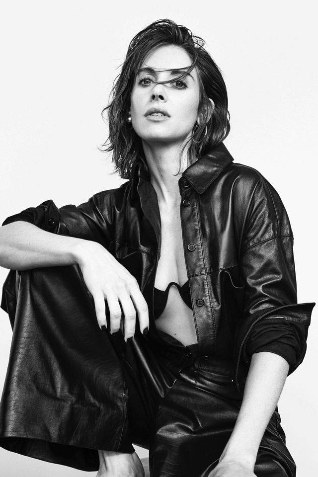 Alison Brie Poses in Sleek Looks for Sunday Times Style