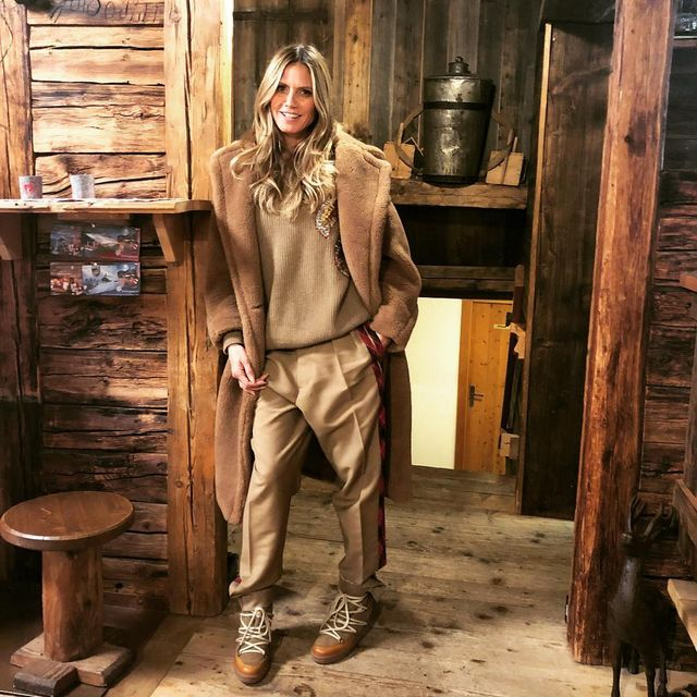 a88c8192f9887f Then, she shared what is literally the most autumnal Instagram I've ever  seen. She stood in a wood cabin wearing all-tan-everything. A camel-toned  sweater, ...