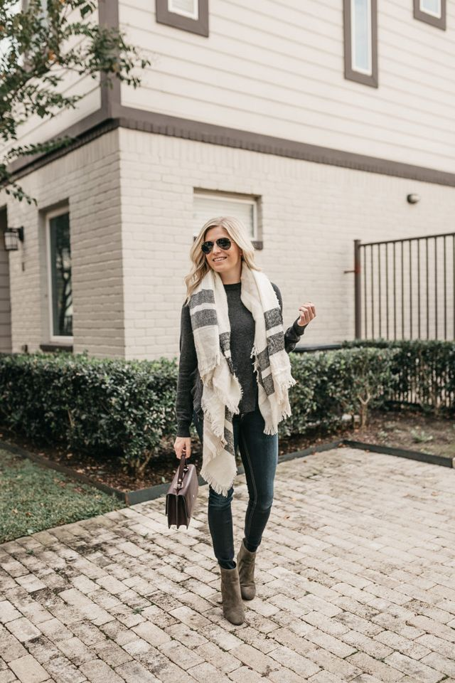 5a81e58e8d7057 There are a few key pieces that will always be cold weather essentials. The  blanket scarf is still a favorite of mine because I m always cold!