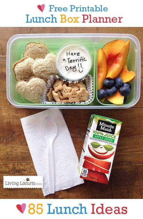 This Printable School Lunch Box Meal Planner With 85 Ideas Is A Life Saver Helpful Back To Tips Parents Will Love These Healthy And