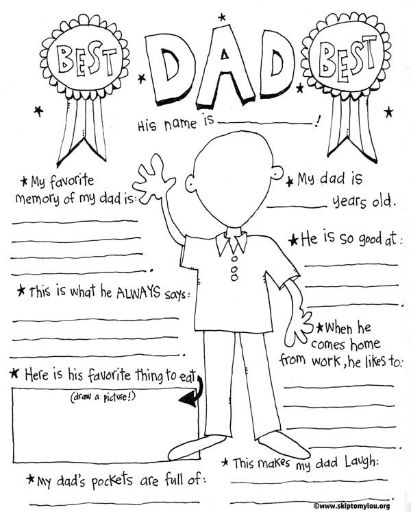 Father\'s Day Coloring Page | Skip To My Lou | Bloglovin\'