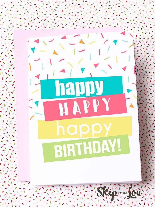 Printable Birthday Cards Skip To My Lou Bloglovin