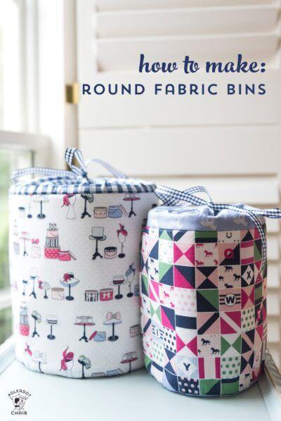 Sewing Pattern Spotlight Fabric Storage Bins The Polka Dot Chair