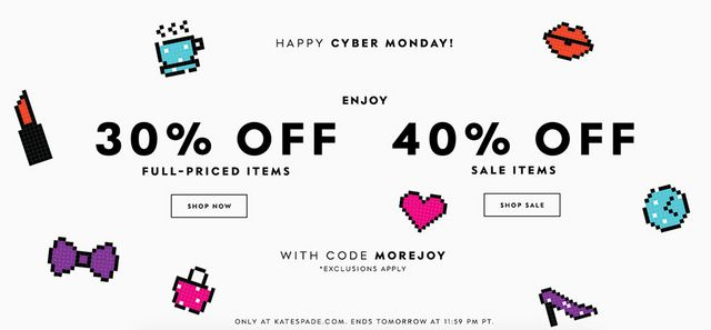 1735887e8123 30% off full-price purchases and 40% off sale purchases with MOREJOY  through November 28.